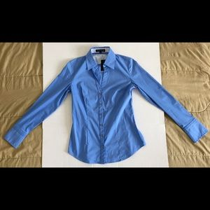 Express Design Studio Blue Shirt Sz Small NEW NWT